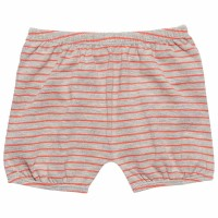 Bio Baby Shorts in grau coral gestreift