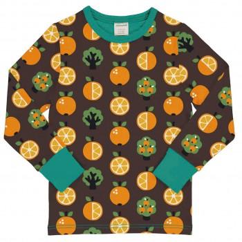 Langarmshirt Orangen braun