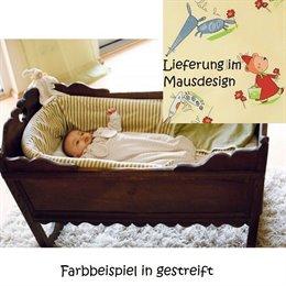 """Kopfschutz Babybett schadstofffrei """"Maus/Zitrone"""""""