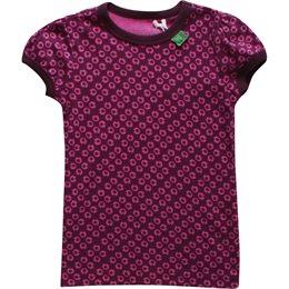Bio Mädchen T-Shirt Kringel wine pink