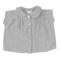 Musselin Sommer Hemd luftig, leicht grau