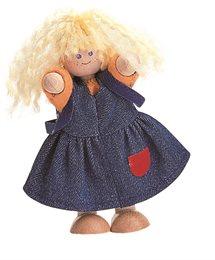 Puppe für Plantoys Puppenhaus Mädchen