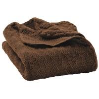 Leichte Babydecke Wolle Bio 80x100 cm braun