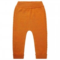 Baby Strickleggings in orange