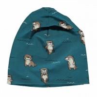 Leichte Otter Beanie blau