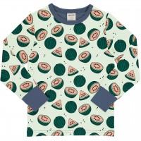 Wassermelonen Shirt langarm Bündchen in grün