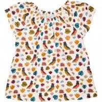 Mädchen Shirt-Tunika mit Papageien
