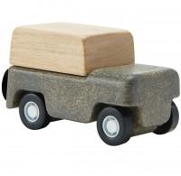 Spielzeug Auto aus Holz ab 3 Jahren grau - 6 cm lang