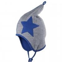 Wolle Baumwolle Zipfelmütze atmungsaktiv blau