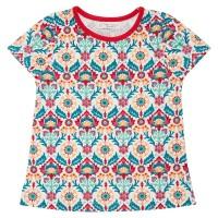 Bio T-Shirt Retro Blume innen ungefärbt