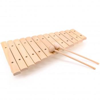 Xylophon mit 13 Ahorn Klangplatten für Kinder ab 3 Jahre