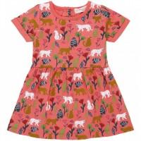 Leichtes Sommer Babykleid Leoparden in pink
