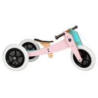 """Vorschau: Laufrad Dreirad Holz pink """"3in1"""" mitwachsend ab 12 Monaten"""