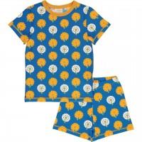Sommer Schlafanzug Löwenzahn blau