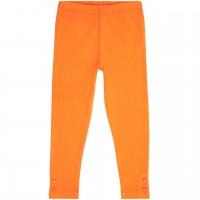 Uni Leggings 2 Knöpfen Beinabschluss orange
