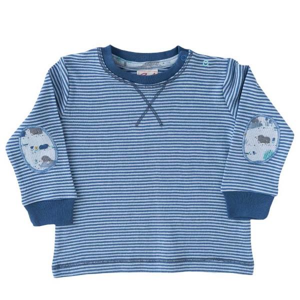Langarmshirt Ringel blau Patches