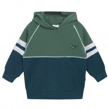 Kapuzen Sweatshirt Blockdesign navy