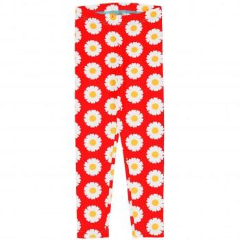 Leichte Jersey Leggings Gänseblümchen in rot