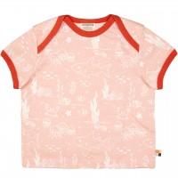 Leichtes Kurzarm Shirt Meereswelt rosa