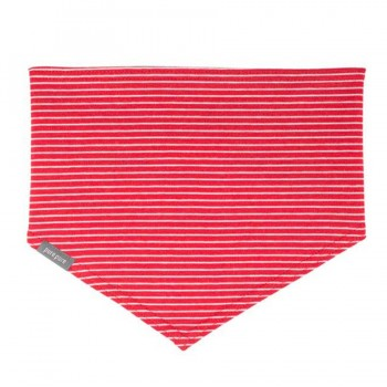 Elastischen Halstuch zum Binden himbeer-roter Ringel