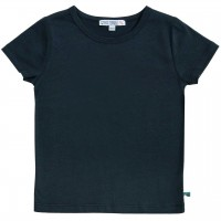 Shirt kurzarm uni Basic in navy