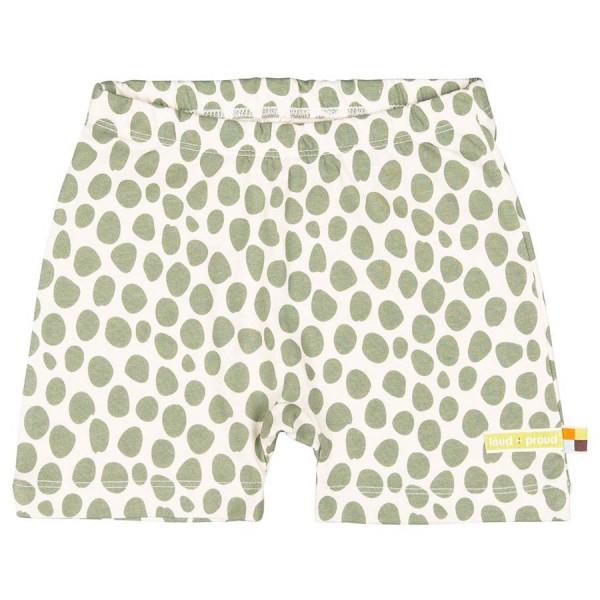 Leichte Shorts Geparden-Muster oliv-grün
