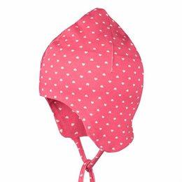 Leichte Babymütze mit Ohrenschutz himbeere