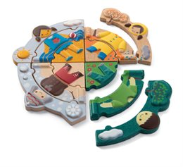 Holzpuzzle Jahreszeiten Kleinkinder