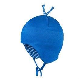 Babymütze leicht für Übergangszeit blau