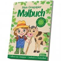 Mein Graspapier Malbuch - Bauernhof