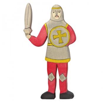 Ritter kämpfend aus Holz rot