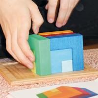 Vorschau: 3D räumliches Denkspiel mit Vorlage