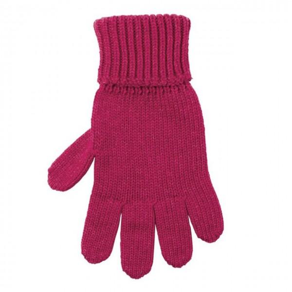 Kinder Handschuhe Himbeere-pink Strick