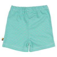 Vorschau: geringelte leichte Unisex Shorts grün
