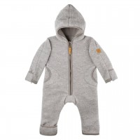 Fleece Overall Wolle grau