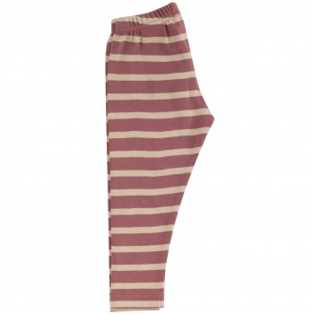 Streifen Leggings rosa-creme