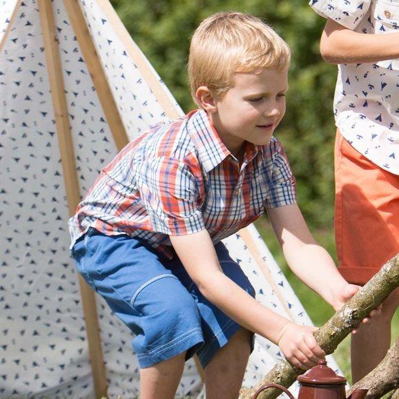 Jungen Hemd aus hochwertiger Biobaumwolle