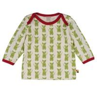 Kinder Shirt innen ungefärbt außen süsse Hund - grün