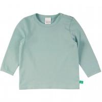 Dehnbares Basic Langarmshirt in hellem grüngrau