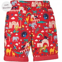Wende Shorts Tiere in rot
