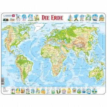 Lernpuzzle Weltkarte für Kinder ab 6 Jahre
