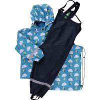 Vorschau: Kinder Regenkleidung SET ungefüttert + Tasche - blau