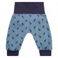 Bündchen Babyhose Hirsch in blau