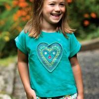 Leichtes Mädchen T-Shirt Herz