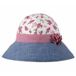 grosser Mädchen Hut mit breiter Sonnen Krempe - jeans