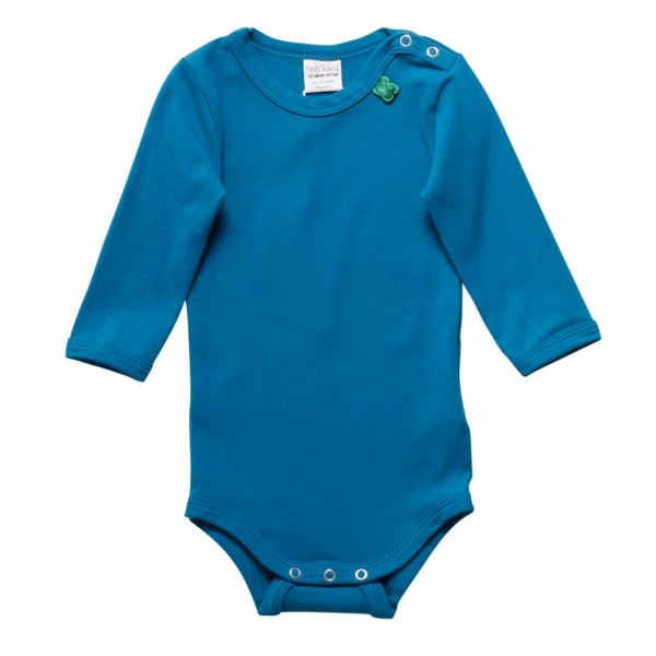 Basic langarm Body in blau