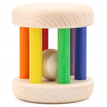 Babyrassel Holz bunt – 6 cm