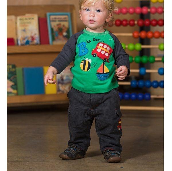 Bio Langarmshirt für Jungen - warm & robust
