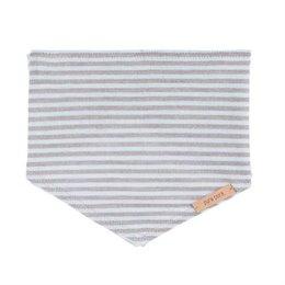 Wolle Seide Bio Halstuch für Kleinkinder - grau pastellblau