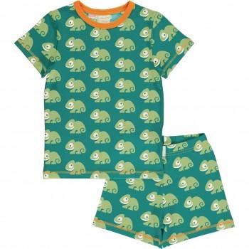 Sommer Schlafanzug Chamäleon grün
